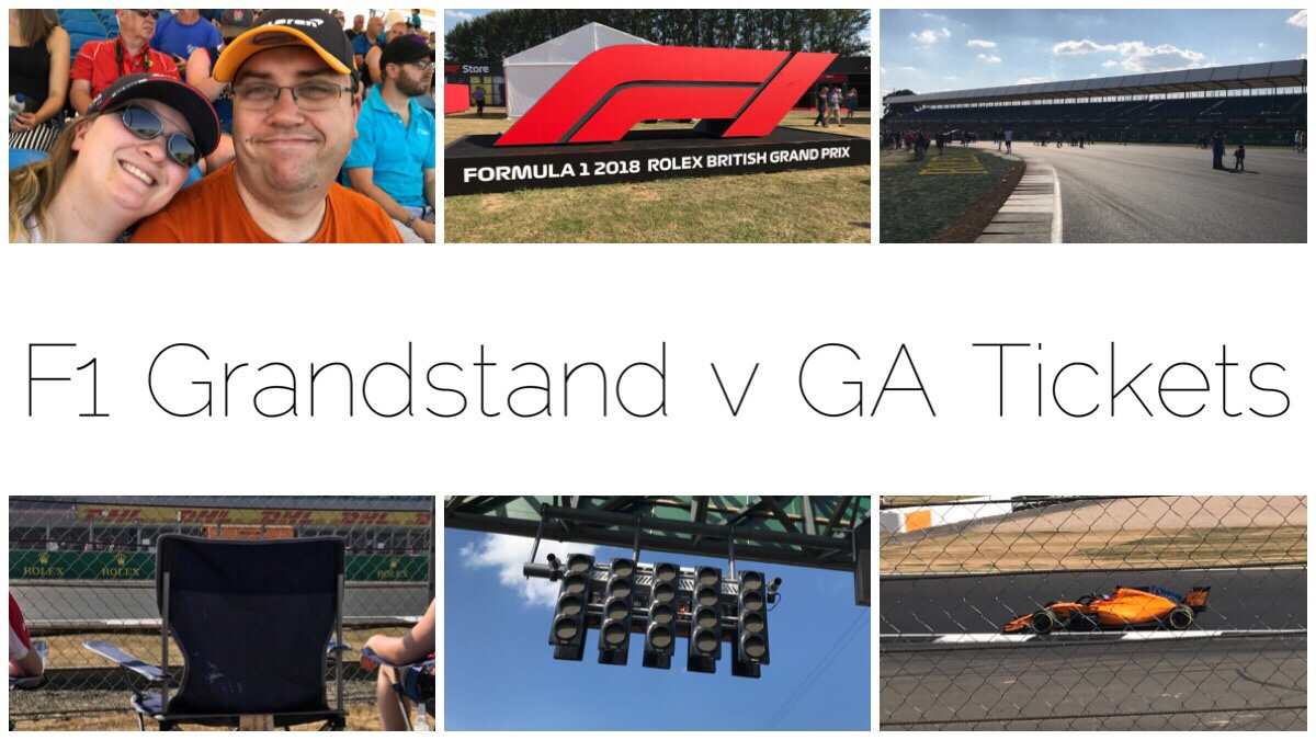 F1 Grandstand Tickets vs General Admission